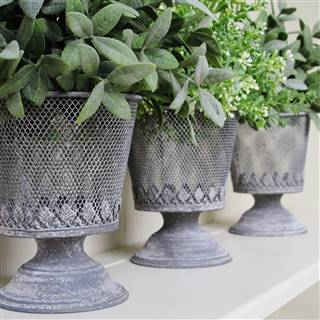 <strike>£12.99</strike> <span class='errorText'>£6.99</span><br /><a href='/home-accessories/vases-and-planters/grey-metal-planter-seconds' target='' title=''>for more details</a>