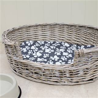From <strike>£18.99</strike> <span class='errorText'>£14.99</span><br /><a href='/pet-accessories/pet-accessories/wicker-dog-bed-basket-oval' target='' title=''>for more details</a>