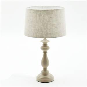 Cream Lamp and Linen Shade