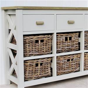 9 Drawer Basket Storage Unit