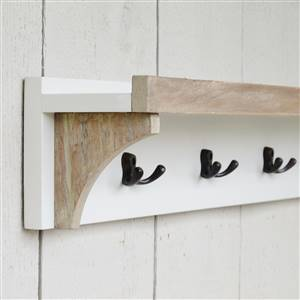 Coat Rack With Shelf 5 Hooks