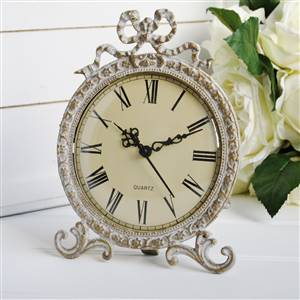Antiqued Gold Mantel Clock