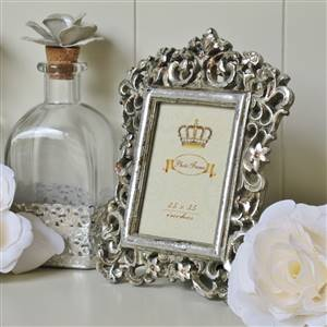 Antiqued Silver Photo Frame