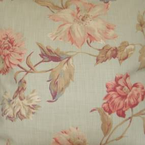 Duck egg floral fabric