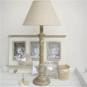 Table Lamp Linen Shade H53cm