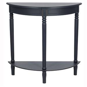 Black Half Moon Console Table