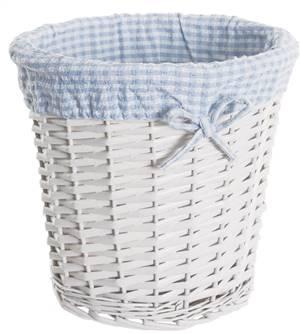 Blue Gingham Basket Bin