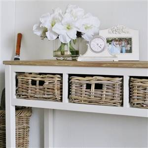 Console Table 3 Basket