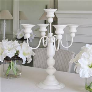 Cream 5 Arm Candelabra