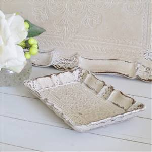 Cream Wooden Trinket Tray