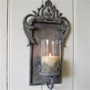 Crown candle wall sconce