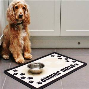 Dog Food Mat Dinner Mate Cream