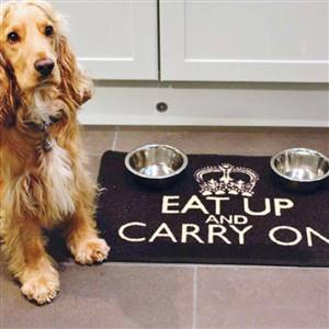 Dog Food Mat Eat Up & Carry On