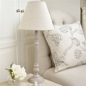 Grey Table Lamp Linen Shade