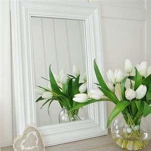 Country Style White Wall Mirror