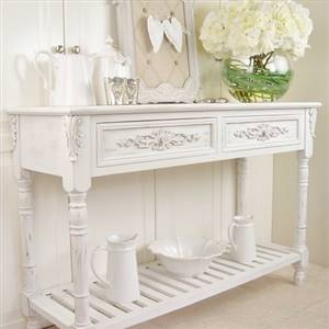 Elegant white console table bliss and bloom ltd for Elegant fold out console table