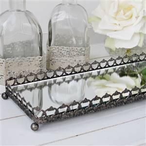 Silver Mirror Trinket Tray