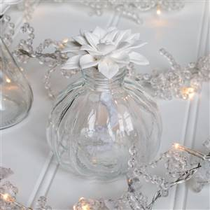 Flower Top Glass Bottle