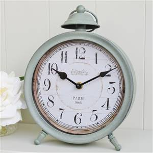 French Grey Mantel Clock