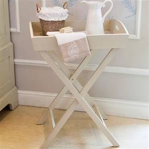 Wooden tray on Stand Swedish White