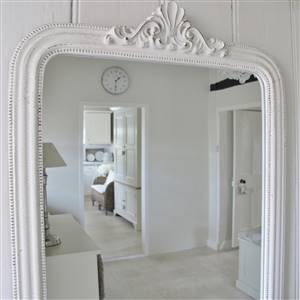 French Style White Wall Mirror
