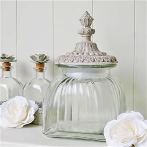 Glass Lidded Storage Jar