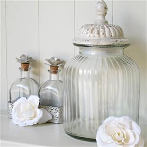 Glass Lidded Storage Jar