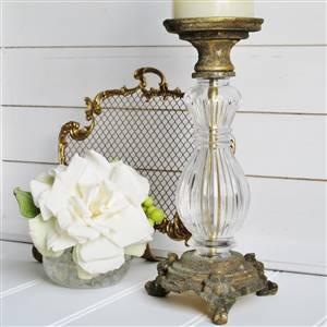 Gold Glass Candlestick