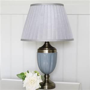 Grey Table Lamp Base and Shade