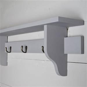 Grey Wall Shelf Hooks