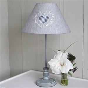 Heart Grey Table Lamp