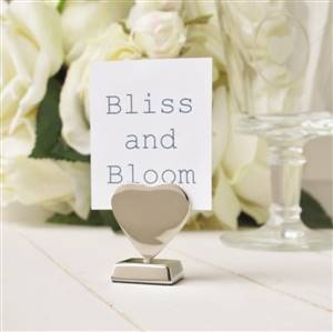 Heart place name card holder