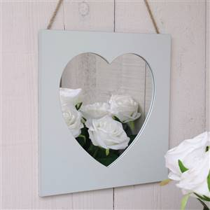 Heart Wall Mirror French Grey