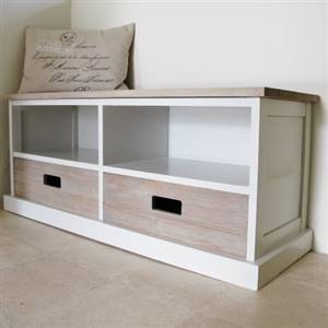 2 Drawer Storage Unit Bench Seat