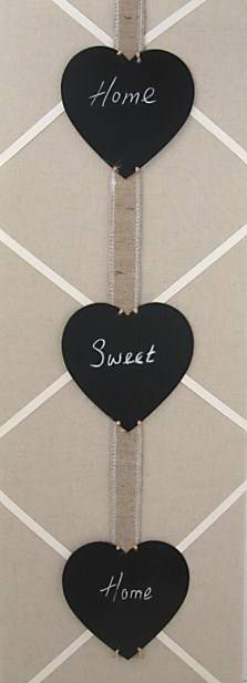 Triple Heart Memo Black Board