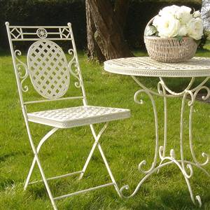 Cream French style bistro set