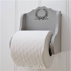 Laurel Grey Toilet Roll Holder