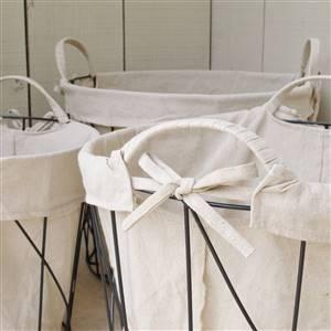 Linen Storage Basket Round