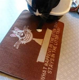 Cat Litter Mate Mat Brown