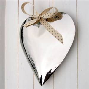 Silver Heart Wall Hanging