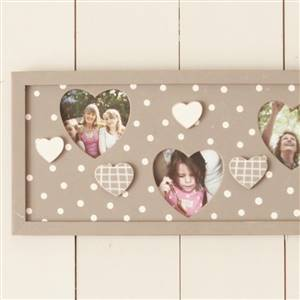Triple polka dot & gingham frame