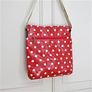 Polka Dot Cross Over Bag Red