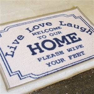 Live Love Laugh Door Mat