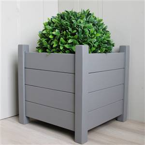 Set of 2 Grey Square Planters 40cm