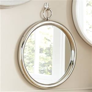 Silver Round Nickel Mirror