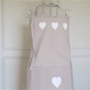 Beautiful Heart Linen Apron