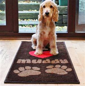 Pet Floor Mat I Love Muddy Paws