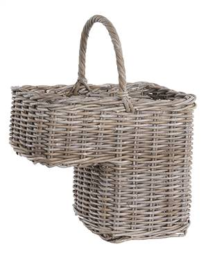 Stair Basket Grey Rattan