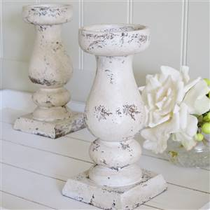 Large Stone Effect Candlestick