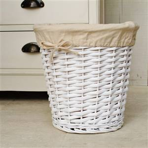White Willow Basket Bin